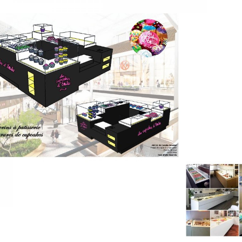 Les Cupcakes d'Emilie - stand de confiseries - galerie commerciale Docks Bruxsel