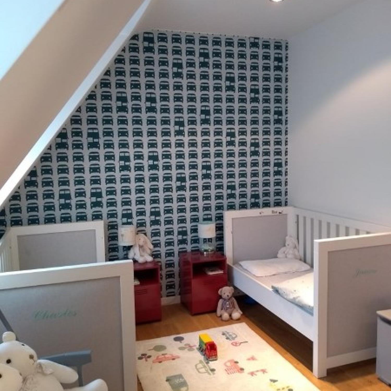 Aménagement d'une chambre d'enfants - rénovation maison unifamiliale